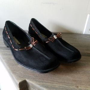 Brighton Black Suede Leather Naples Loafers 8.5N
